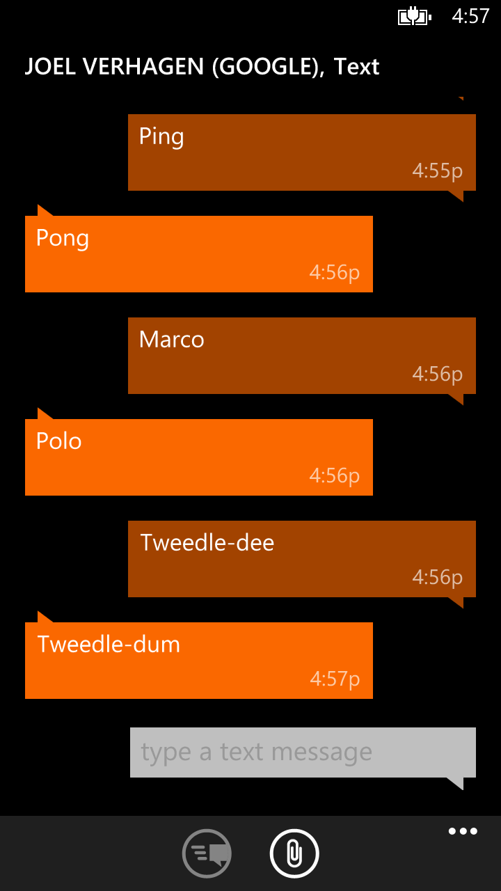 Can't Send Text Messages on Windows Phone 8 | Joel Verhagen